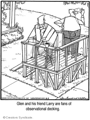 Glen and his friend Larry are fans of observational decking.