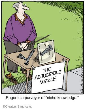 "The Adjustable Nozzle. Roger is a purveyor of ""niche knowledge."""
