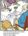 Comic Strip Jerry Van Amerongen  Ballard Street 2013-10-11 dinner guest