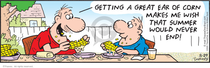 Getting a great ear of corn makes me wish that summer would never end!