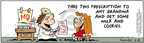 Comic Strip Bob Thaves Tom Thaves  Frank and Ernest 2005-05-31 prescription