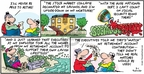 Comic Strip Bob Thaves Tom Thaves  Frank and Ernest 2009-03-01 financial loss