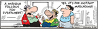 Comic Strip Bob Thaves Tom Thaves  Frank and Ernest 2009-08-24 instant message