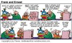 Comic Strip Bob Thaves Tom Thaves  Frank and Ernest 2000-08-13 latest invention