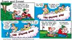Comic Strip Bob Thaves Tom Thaves  Frank and Ernest 2001-04-08 sport