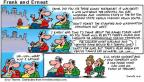 Comic Strip Bob Thaves Tom Thaves  Frank and Ernest 2001-11-04 football