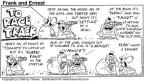 Comic Strip Bob Thaves Tom Thaves  Frank and Ernest 1996-01-28 horse race
