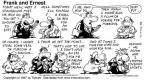 Comic Strip Bob Thaves Tom Thaves  Frank and Ernest 1997-07-13 sports media