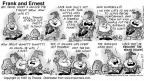 Comic Strip Bob Thaves Tom Thaves  Frank and Ernest 1997-09-07 rip