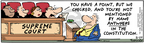 Comic Strip Bob Thaves Tom Thaves  Frank and Ernest 2005-08-29 liberty and justice