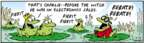 Comic Strip Bob Thaves Tom Thaves  Frank and Ernest 2007-11-13 lily pad