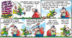 Comic Strip Bob Thaves Tom Thaves  Frank and Ernest 2008-02-03 football receiver