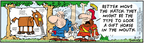 Comic Strip Bob Thaves Tom Thaves  Frank and Ernest 2006-08-17 gift