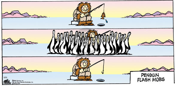 Penguin Flash Mobs.