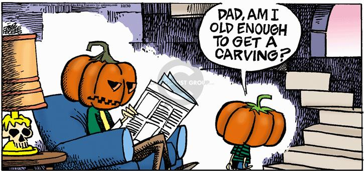 Dad, am I old enough to get a carving?