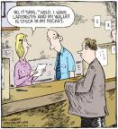 Comic Strip Dave Coverly  Speed Bump 2011-01-19 bank teller
