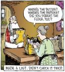 Comic Strip Dave Coverly  Speed Bump 2012-11-23 Christmas list