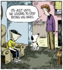 Comic Strip Dave Coverly  Speed Bump 2013-03-01 finger