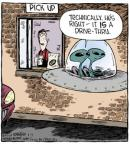 Comic Strip Dave Coverly  Speed Bump 2014-04-11 drive-thru