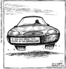 Comic Strip Dave Coverly  Speed Bump 2007-05-05 wrong direction