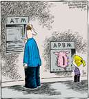 Comic Strip Dave Coverly  Speed Bump 2007-10-25 automatic teller machine