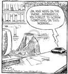 Comic Strip Dave Coverly  Speed Bump 1999-12-06 absentminded