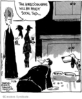 Comic Strip John Deering  Strange Brew 2008-05-26 dinner guest
