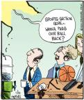 Comic Strip John Deering  Strange Brew 2011-01-26 basketball ball
