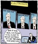 Comic Strip John Deering  Strange Brew 2013-08-02 news media