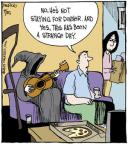 Comic Strip John Deering  Strange Brew 2013-09-25 dinner guest