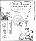 Comic Strip Mike Twohy  That's Life 2007-07-27 defendant