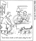 Comic Strip Mike Twohy  That's Life 2007-07-31 dog and cat